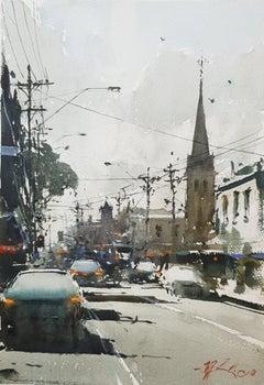 Sunny Morning, Melbourne — Joseph Zbukvic b. 1952 (Watercolour, Realist) 2018