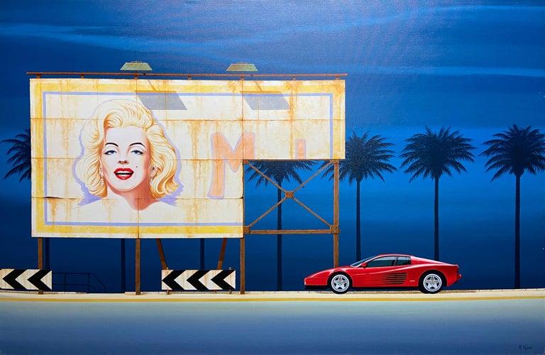 Timeless Highway — Richard Kulma b. 1959 (Realist, Pop, Surrealist) Oil 2015 - Painting by Richard Kulma
