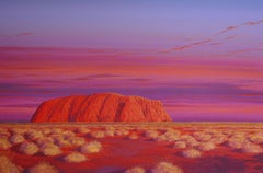 The Dance of Colour — Richard Kulma b. 1959 (Realist, Landscape) Uluru 2019