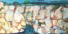 Waterhole — John Maitland (Landscape, Abstract) Mixed Media 2020