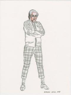 On Human Relations - Deborah Sengl 21st Century Animal Figurative Drawing Unique