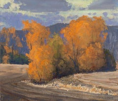 Fall Colors - Plein Air Gouache Fall Landscape Painting Contemporary