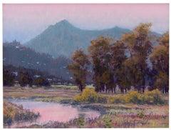 Sunrise Wetlands - Landscape Pastel Painting Contemporary Impressionistic