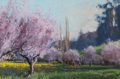 Prom Dress 2 - Landscape Pastel Painting Contemporary Impressionistic