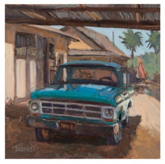 Rusty's Portrait - Plein Air Painting (Truck) Contemporary