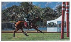 For The Win - Polo Pony Pastel Painting Equine Photorealism