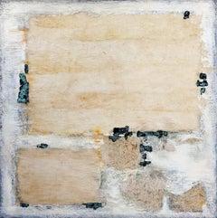 "abstract acrylic marble linen canvas 120x120cm   ""Presence of silence"""