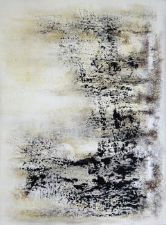 """abstract acrylic marble linen canvas 72x81cm send in wood crate at cost """"Haiku"""""""