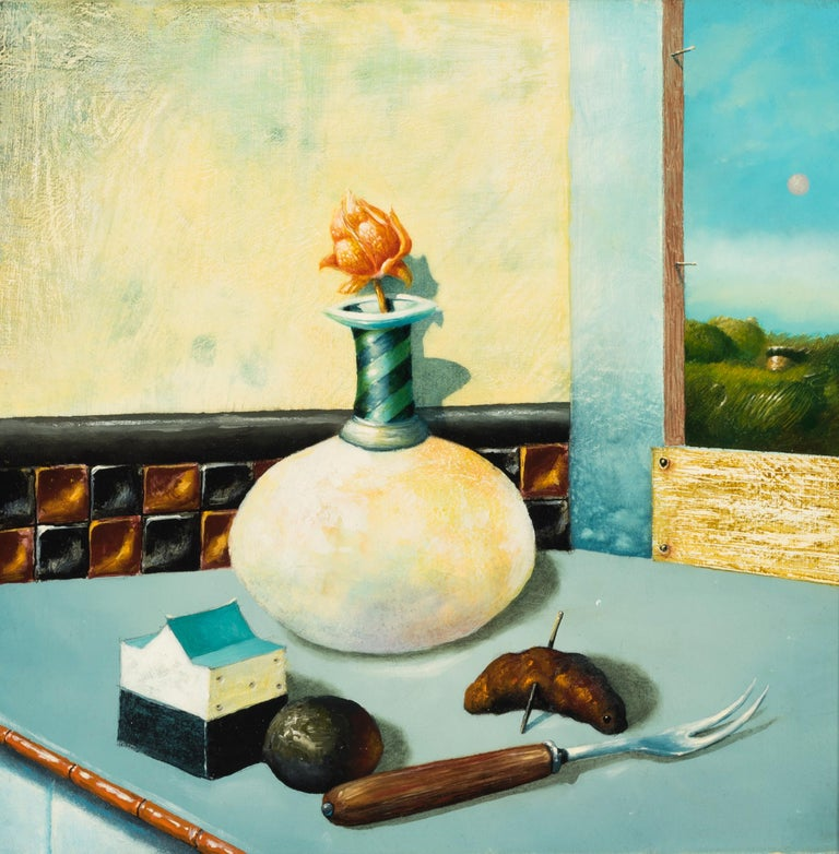 Robert Rasely Still-Life Painting - Recalling a Galvanic Moment (learning to savor the scars of remorse)