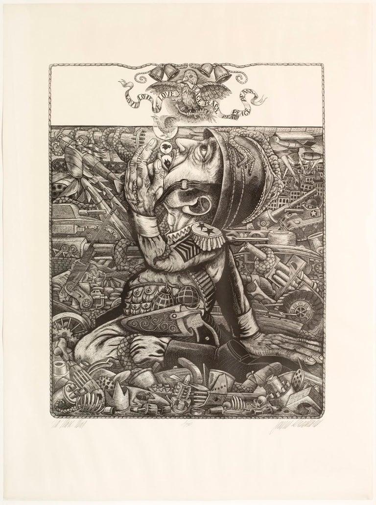James Grashow Figurative Print - No More War