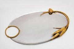 Silver, Gold, Tray, Claude Lalanne, Contemporary, 1980's, Design, Artcurial