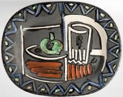 Nature morte, Still Life, Pablo Picasso, 1950's, Polychrome ceramic, Design
