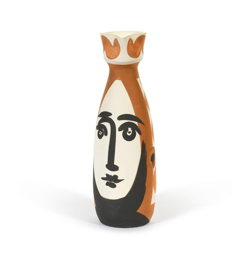 Face, Pablo Picasso, 1950's, Earthenware, Decorative Art, Design, Interior,