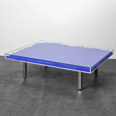 Table Bleu Klein IKB, Yves Klein, Blue pigment glass table, Contemporary, Design