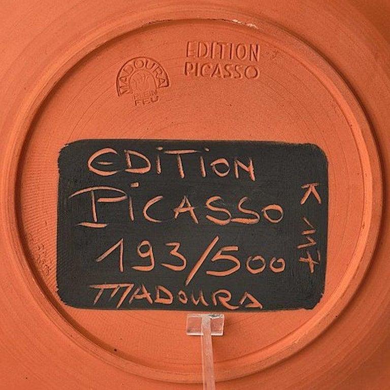 Scène de Tauromachie, Pablo Picasso, 1957, Plate, Ceramic, Design, Postwar, Toro For Sale 1