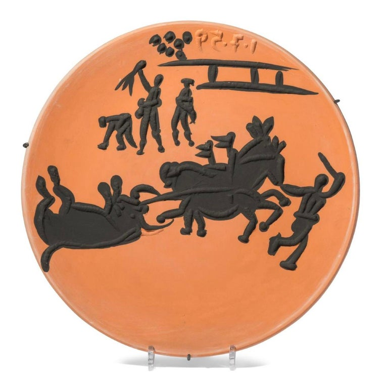 Corrida Scenes, Pablo Picasso, Set, Ceramics, Design, Art, Sculpture, Postwar For Sale 1