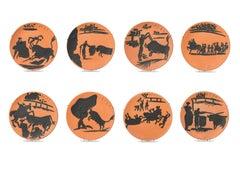 Corrida Scenes, Pablo Picasso, Set, Ceramics, Design, Art, Sculpture, Postwar