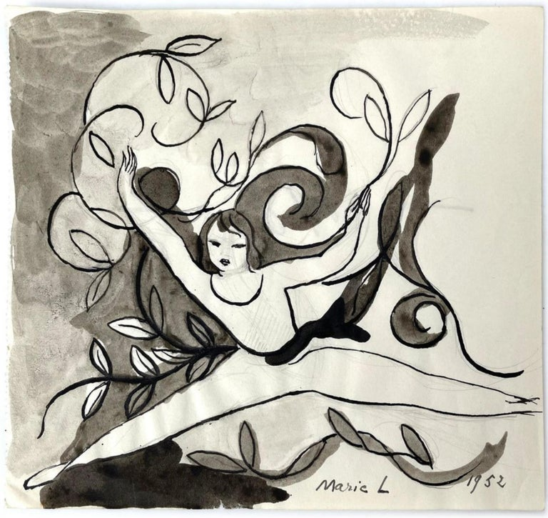 Femmes, Marie Laurencin, 1950's, Ink on Paper, Post-Impressionism, Woman Art For Sale 1