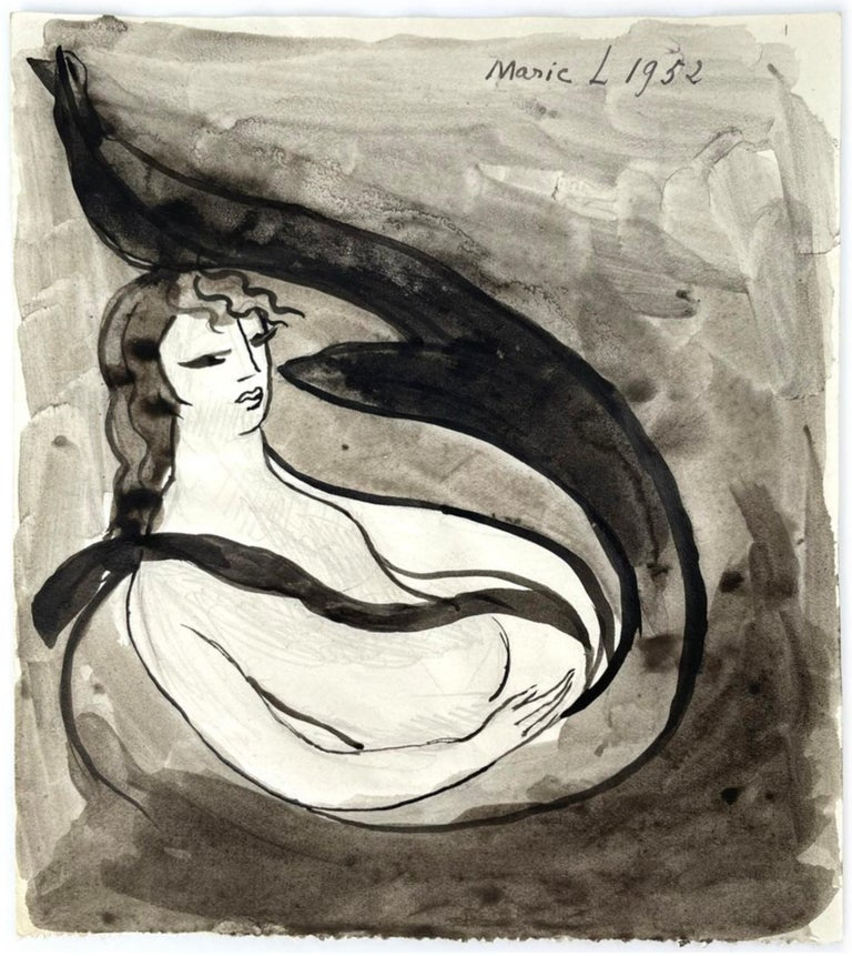 Femmes, Marie Laurencin, 1950's, Ink on Paper, Post-Impressionism, Woman Art For Sale 2