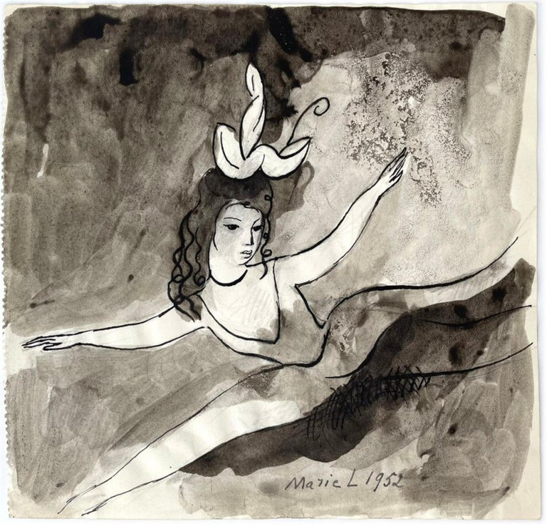 Femmes, Marie Laurencin, 1950's, Ink on Paper, Post-Impressionism, Woman Art For Sale 3