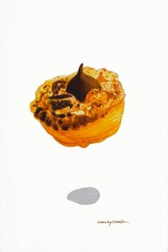 "Nancy Lamb, Kiss Cake, 2020, Watercolor on Paper, 5.5 x 3.5"""