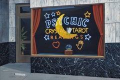Contemporary Oil of Psychic Reading, Tarot Card, and Palm Reading Neon Sign