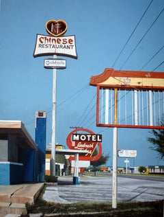 Contemporary American Nostalgia Sign of Chinese Restaurant w/ Blue Sky