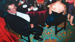 Contemporary Quirky Portrait of Party People with Incredible Carpet Detail