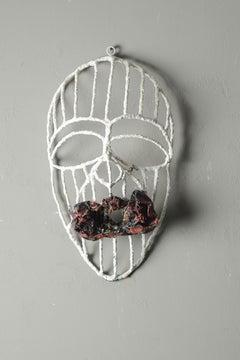 Reclaimed freedom of speech 2, Elisia Nghidishange, wire, plaster, fabric
