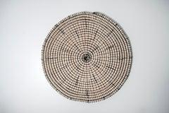 Baskets reimagined 1, Laimi Mbangula, rope, acrylic string, wooden base