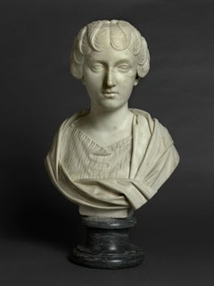 Eighteenth-century Grand Tour marble bust of Faustina the Younger