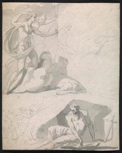 Eighteenth century Old Master drawing - Apollo destroying Niobe's children