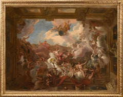 18th century oil sketches for a Baroque interior - a pair