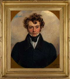 19th century portrait painted in St Petersburg in 1819