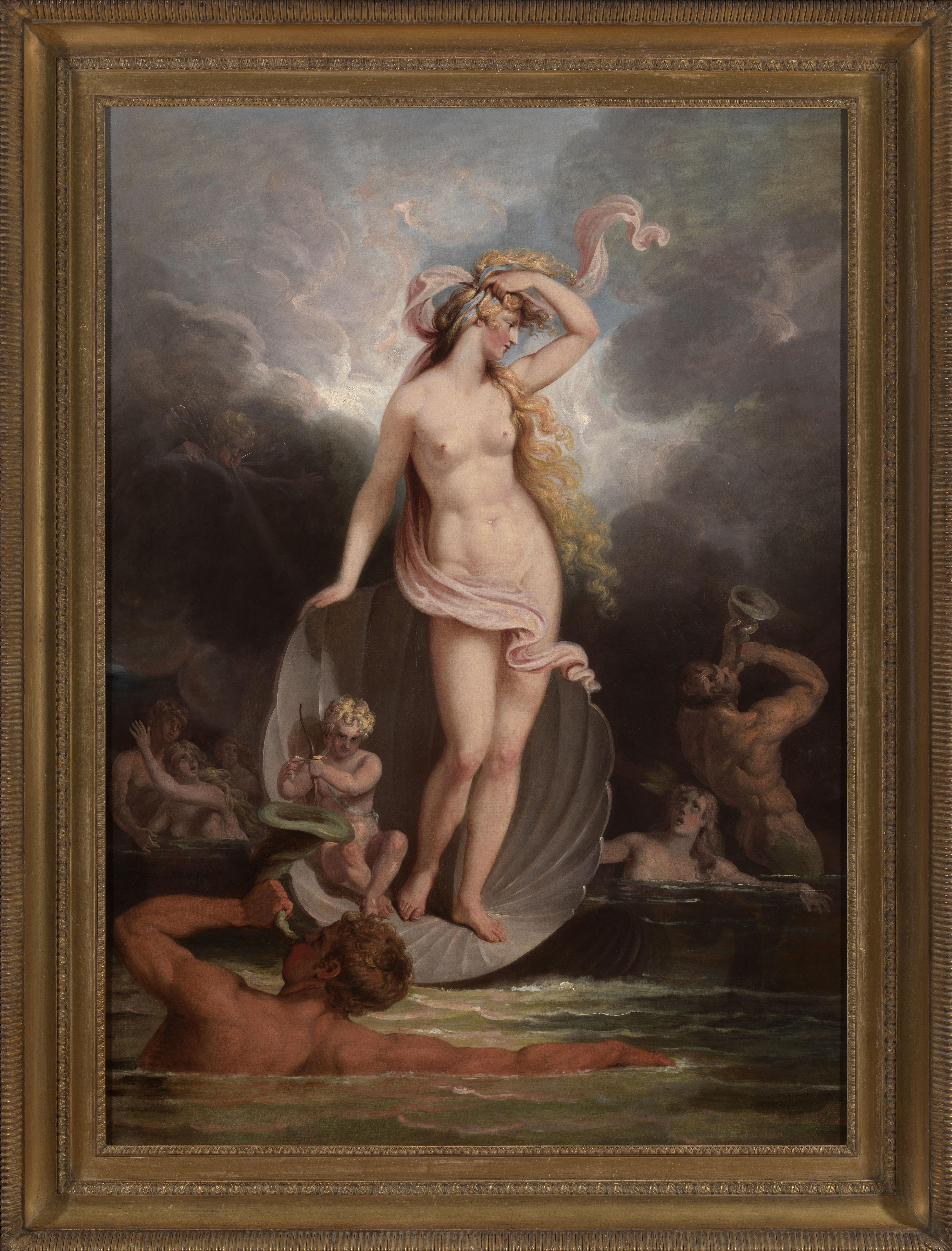 18th century allegorical painting of The Triumph of Beauty