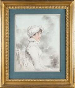 Regency portrait drawing of Arabella Graham-Clarke