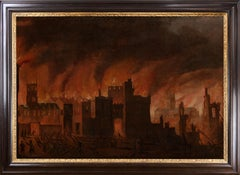 Early oil depicting the Great Fire of London