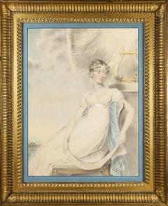 Regency portrait drawing of Lady Nugent