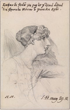 Portrait drawing of Harriot Mellon, Mrs Thomas Coutts