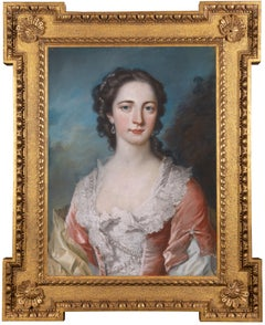 18th century pastel portrait of Lady Norris