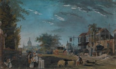 18th century view of the Elephant and Castle in London