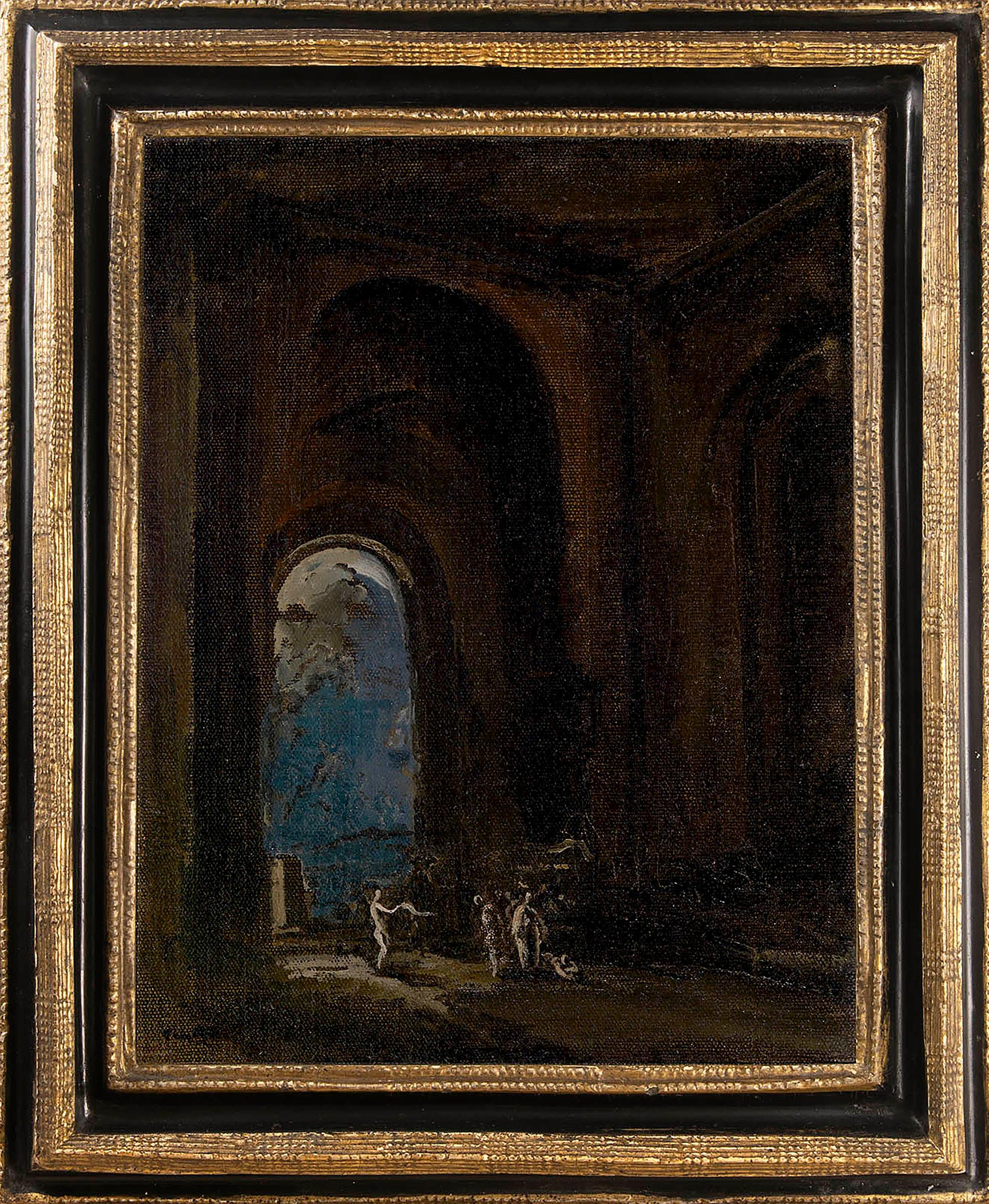 20th century oil painting entitled The Unknown Corner