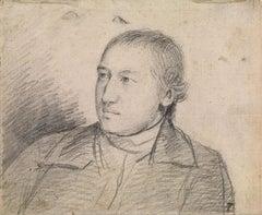 18th century portrait drawing of the Rev. William Atkinson