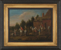 17th C., Baroque, Genre Painting, Stop of the Travelers