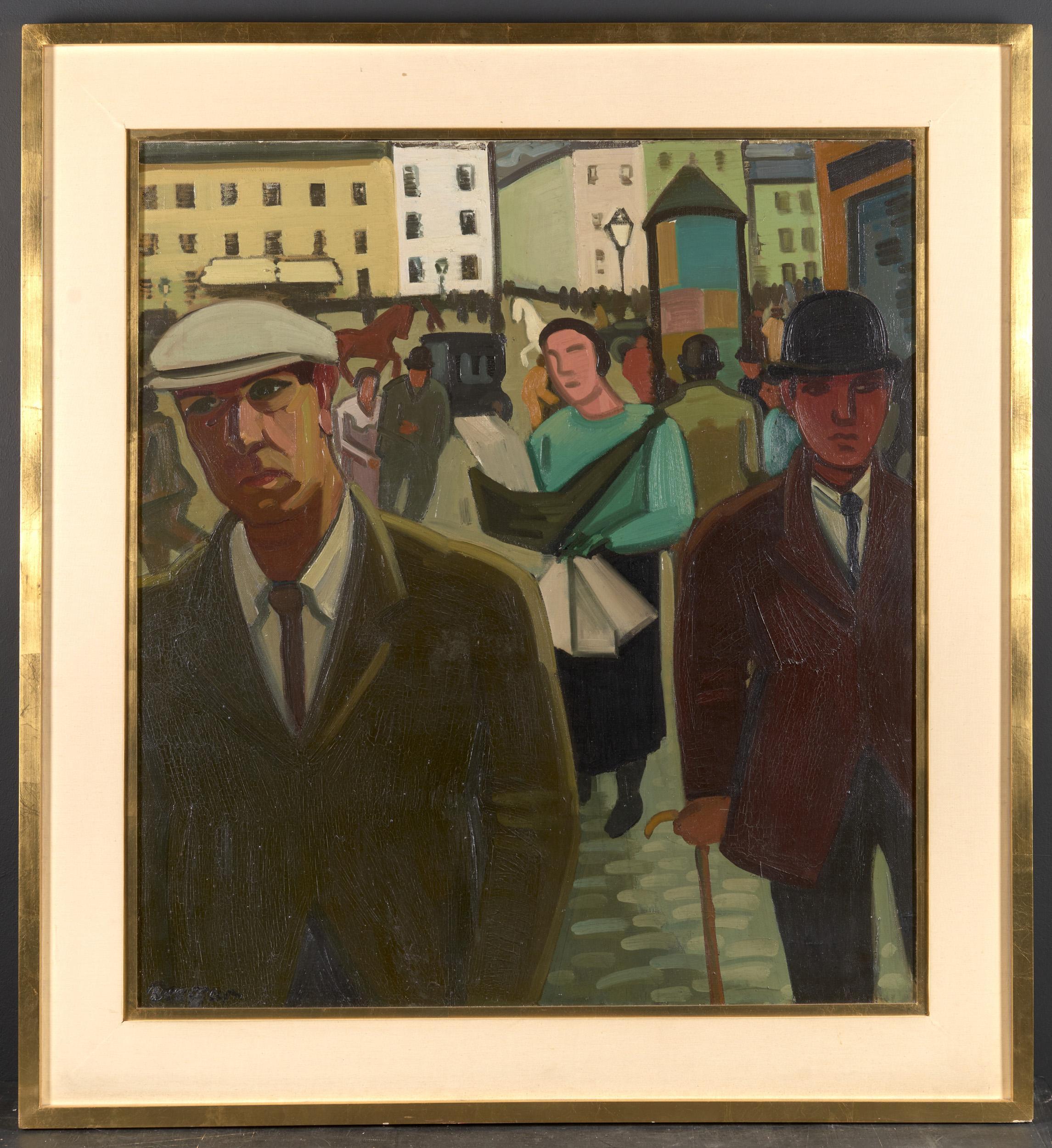 20th C, Louis François Decoeur (Namen 1884 – Namen 1960), Rue Animée