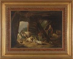 19th C, Romanticism, Genre Painting, Sheepstable