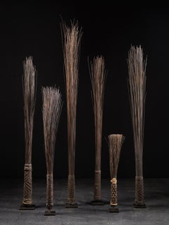 Mbole People, RDC, Chief Scepters Collection made of Palmtree Leaf Midribs