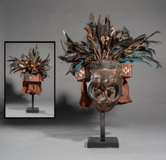"Feathered Face Masks ""Ishyeen Imaalu"", Kuba People, DRC."