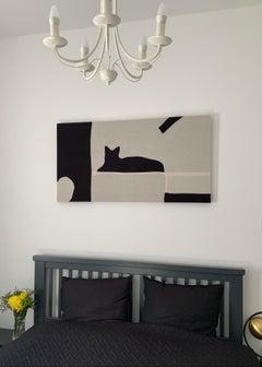 Cat, textile artwork