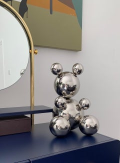 Bear, stainless steel sculpture